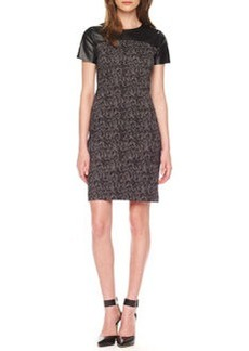 MICHAEL Michael Kors Printed Leather-Top Dress