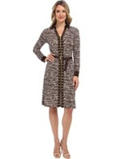 MICHAEL Michael Kors Printed Stud Zip Shirt Dress