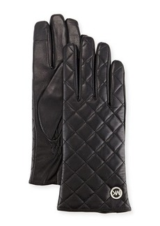 MICHAEL Michael Kors Quilted Leather Tech Gloves