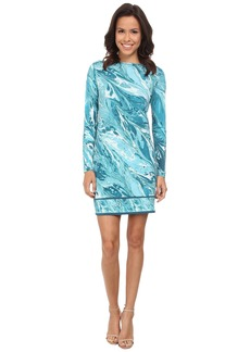 MICHAEL Michael Kors Rainwater Long Sleeve Border Dress