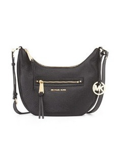 MICHAEL Michael Kors Rhea Small Zip Messenger Bag, Black