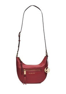 MICHAEL Michael Kors Rhea Small Zip Messenger Bag, Red