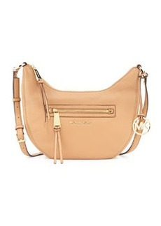 MICHAEL Michael Kors Rhea Small Zip Messenger Bag, Suntan