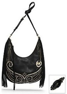 MICHAEL Michael Kors® Rhea Studded Leather Medium Shoulder Bag