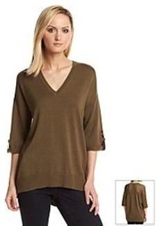 MICHAEL Michael Kors® Roll Sleeve Mesh Back Sweater