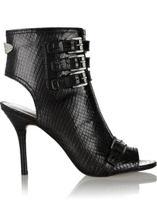 MICHAEL Michael Kors Roswell buckled snake-effect leather boots
