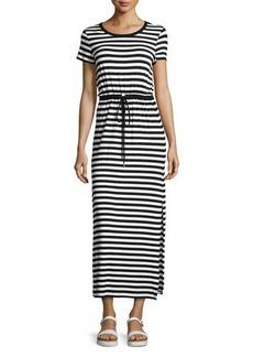 MICHAEL Michael Kors Round-Neck Short-Sleeve Maxi Dress