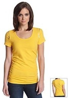 MICHAEL Michael Kors® Ruched Side Zip Shoulder Top