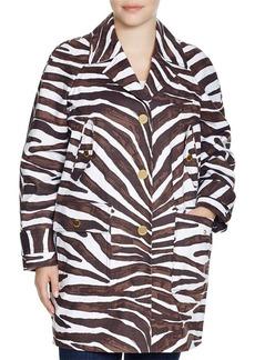 MICHAEL Michael Kors Safari Print Trench Coat