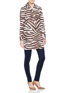 MICHAEL Michael Kors Safari Print Trench Coat
