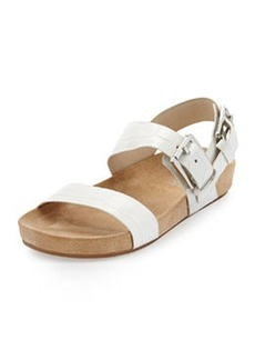 MICHAEL Michael Kors Sawyer Double-Band Sandal, Optic White