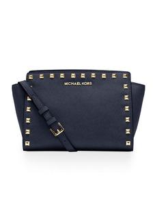 MICHAEL MICHAEL KORS Selma Leather Studded Medium Messenger Bag