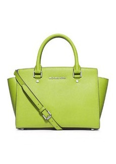 MICHAEL Michael Kors Selma Medium Messenger Bag, Pear