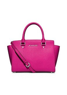 MICHAEL Michael Kors Selma Medium Top-Zip Satchel, Raspberry