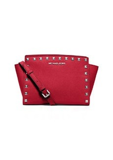 MICHAEL Michael Kors Selma Studded Medium Messenger Bag, Chili