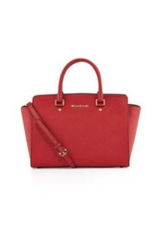 MICHAEL Michael Kors Selma Top-Zip Satchel Bag, Red