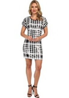 MICHAEL Michael Kors Sequin Hounds/Plaid Dress