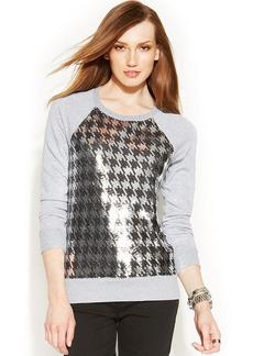 MICHAEL Michael Kors Petite Sequin-Panel Sweatshirt