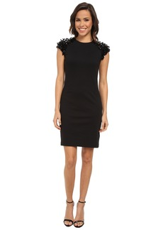 MICHAEL Michael Kors Sequin Short Sleeve Ponte Dress
