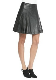 MICHAEL Michael Kors Sheepskin Leather Circle Skirt