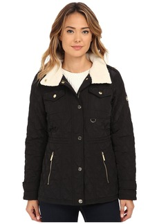 MICHAEL Michael Kors Sherpa Lined Snap Front Quilt