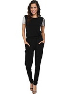 MICHAEL Michael Kors Short Sleeve Chain Mesh Sleeve Jumpsuit