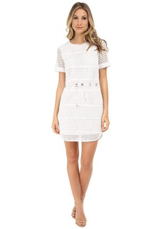 MICHAEL Michael Kors Short Sleeve Drawstring Panel Dress