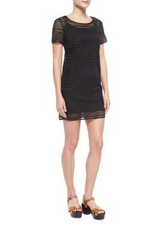 MICHAEL Michael Kors Short-Sleeve Eyelet Tee Dress