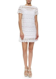 MICHAEL Michael Kors Short-Sleeve Lace Dress