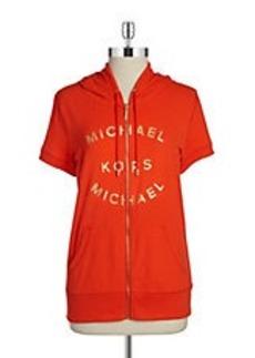 MICHAEL MICHAEL KORS Short Sleeve Logo Hoodie