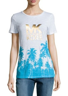 MICHAEL Michael Kors Short-Sleeve Palm Tree Tee