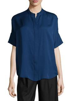 MICHAEL Michael Kors Short-Sleeve Silk Blouse  Short-Sleeve Silk Blouse