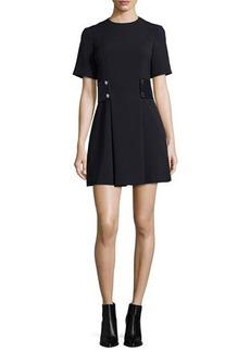 MICHAEL Michael Kors Short-Sleeve Snap-Waist Dress