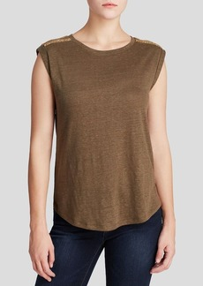 MICHAEL Michael Kors Shoulder Stud Top