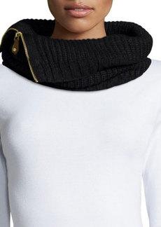 MICHAEL Michael Kors Side-Zip Neck Warmer