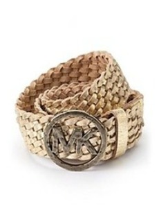 MICHAEL Michael Kors® Signature Accented Braided Leather Belt