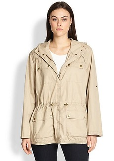 MICHAEL MICHAEL KORS, Sizes 14-24 Twill Anorak