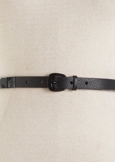 MICHAEL Michael Kors Skinny Studded Leather Belt