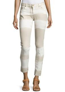 MICHAEL Michael Kors Skinny Tie-Dye Ankle Jeans
