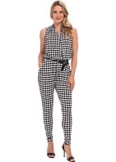 MICHAEL Michael Kors S/L Printed Belt Jumpsuit