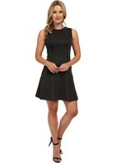 MICHAEL Michael Kors Sleeve Seamed Flare Dress
