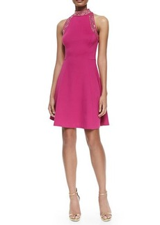 MICHAEL Michael Kors Sleeveless Fit & Flare Dress W/ Studs