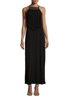 MICHAEL Michael Kors Sleeveless Fringe Maxi Dress