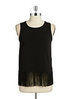 MICHAEL MICHAEL KORS Sleeveless Fringe Top