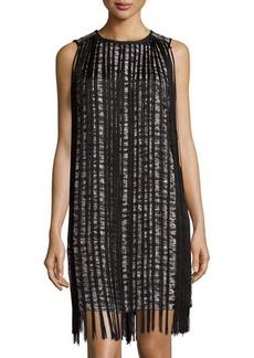 MICHAEL Michael Kors Sleeveless Fringe-Trim Dress