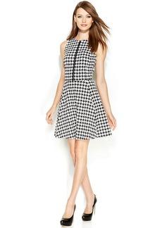 MICHAEL Michael Kors Sleeveless Houndstooth Zip-Front Dress