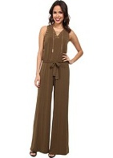 MICHAEL Michael Kors Sleeveless Lace Up Jumpsuit