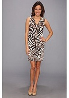 MICHAEL Michael Kors Sleeveless Marbled Zebra Print Raglan Zip Dress