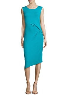 MICHAEL Michael Kors Sleeveless Side-Draped Jersey Dress