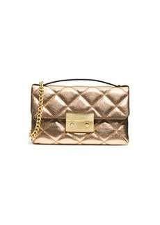 MICHAEL Michael Kors Sloan Small Quilted Messenger Bag, Pale Gold